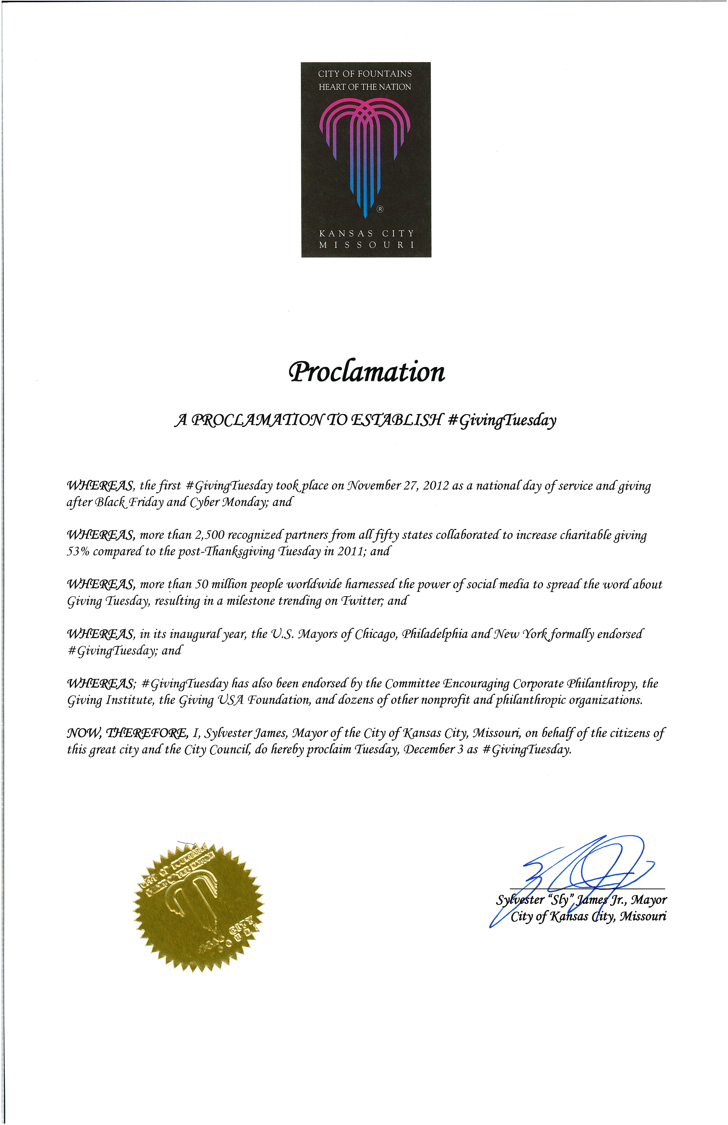 Mayoral Proclamation